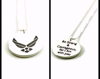 Air force necklace - air force mom necklace