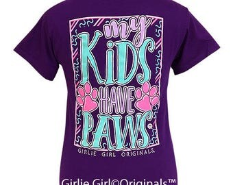 Girlie Girl Originals My Kids Purple Short Sleeve T-Shirt