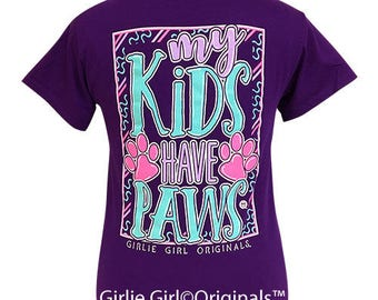 Girlie Girl Originals My Kids Purple Short Sleeve T-Shirt