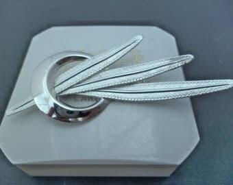 "Vintage Bond Boyd sterling silver leaf brooch - 925 - sterling silver - 2.75"" x 1.2"""
