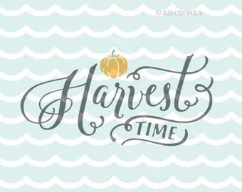 Fall SVG Thanksgiving SVG file. Cricut Explore & more. Harvest Pumpkin Leaves Fall Autumn Sign Thanksgiving Harvest SVG