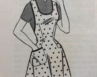 Mail order 9134 misses apron size medium vintage 1960's sewing pattern  Uncut  Factory folds