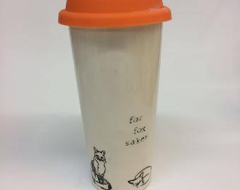 For Fox Sakes Travel Ceramic Mug