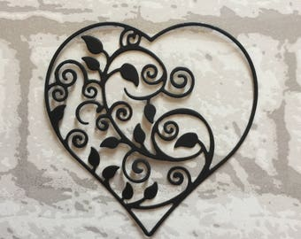 Die Cut Heart with inner detail x10