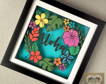 Aloha tropical Framed Papercut