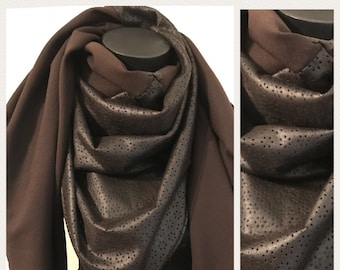 Faux Brown triangle scarf