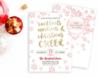 Christmas Party Invitation, Christmas Party, Holiday Party Invitation, Christmas Invites, Digital Invites, Printable Christmas Invite [534]