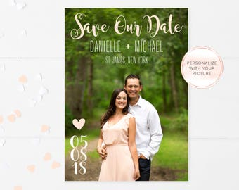 Save the Date, Save the Date Postcard, Save the Date Cards, Save the Date Template, Save the Date with Photo, Save the Date Printable [685]