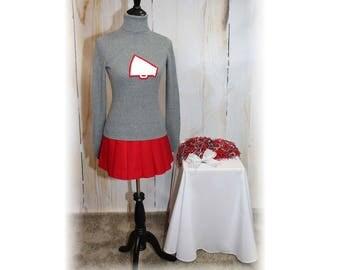 Retro Cheerleader / Vintage Cheerleader / Cheerleader Sweater / OSU Cheerleader Costume-Small-Medium (K70)