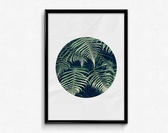 Botanical Print, Botanical Art, Leaf Print, Palm Leaf Print, Palm Leaf Printable, Palm Leaves, Palm Poster, Minimalist Printable