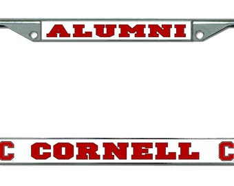Cornell University Alumni Chrome License Plate Frame
