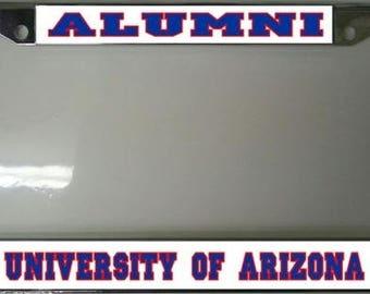 University of Arizona Alumni Chrome License Plate Frame