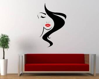 Hairstyle, Wall Sticker, Beauty, Interior Sticker,  Window Sticker, Car Sticker, Wall Decal, Wall Decor, Animals