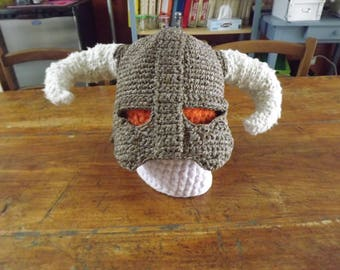 Helmet from skyrim in cotton and wool, cosplay