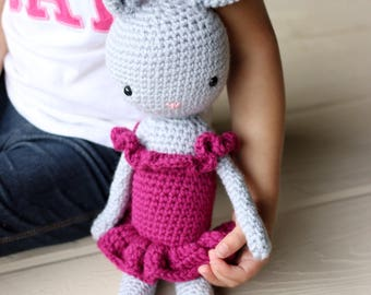 Crochet Ballerina Bunny |Stuffed toy |Amugurumi | Made to order |Customizable