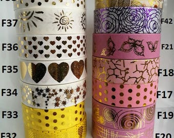 Pick your own Kawaii Washi Tape Samples - Foil Washi Sample