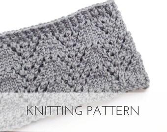 Knitted Headband Pattern   Lace Baby Girl Headband   Knit Headband   Wide Headbands   Ear Warmers   Knitting Pattern