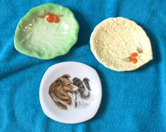 Trio of pin dishes