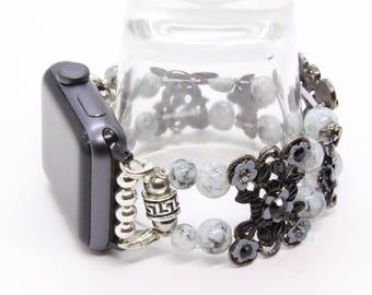 Gray Astrian Crystal-Apple Watch Band 38 Apple Watch Bracelet Womens Apple Band Apple Watch Strap Bracelet Apple Band Apple Jewelry