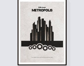 Fritz Lang's Metropolis Minimalist Alternative Movie Print & Poster