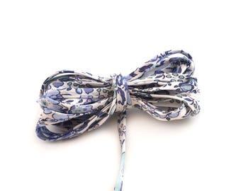Cordon spaghetti liberty  Felicite - Bleu Denim 4 mm