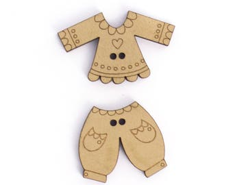 All clothing beige wooden button