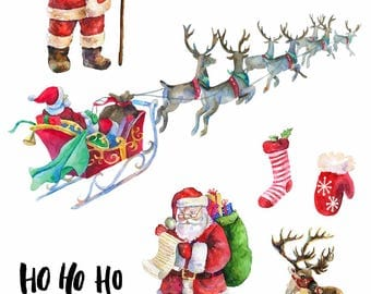Santa Light deco stickers