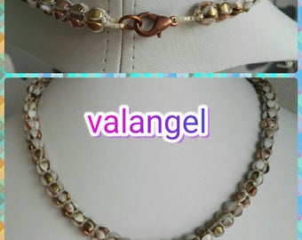 Gold and silver necklace or wedding (40cm) necklace