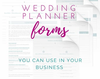 Wedding Planner Forms - Printable Business Forms - NO Photoshop Required!