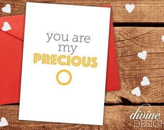 You Are My Precious   Lord Of The Rings Valentine   Funny Valentines Day  Card