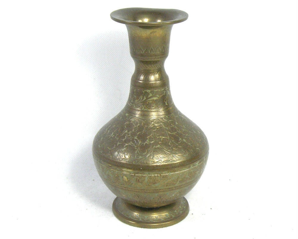 Vintage brass british indian vase indian brass vase british vintage brass british indian vase indian brass vase british india vase boho decor reviewsmspy