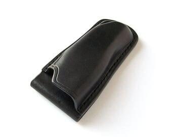 Custom Leather Sheath for SOG Tomcat 3 Folding Knife, Handmade