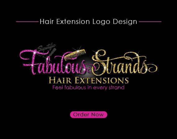 hair extensions logo hair logo design hair collection logo