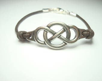 silver plate infinity charm,man, woman charm