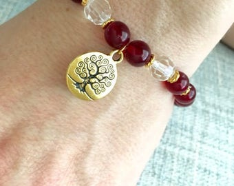 Gold Tree of Life  Spiritual Bracelet