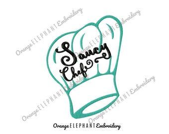 Saucy Chef Hat Unique Urban Machine Embroidery Design digital File
