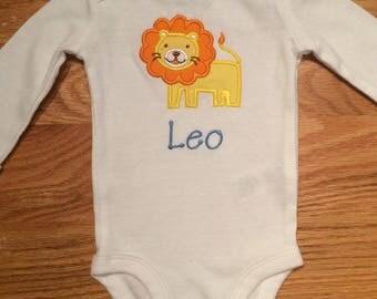 Lion Personalized Onesie