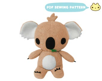Koala Pattern, Koala Bear Toy Pattern, Stuffed Animal Pattern, Koala Animal Pattern, Koala Sewing Pattern, Baby Koala PDF, Koala Toy Sewing