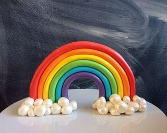 Rainbow cake topper | Etsy