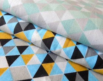 100% Cotton Fabric - Small Triangles in two colors Geometric pattern  - Cotton Print Fabric  optional sizes