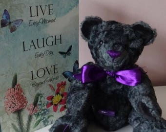 Lavender is a beautifully hand made bear