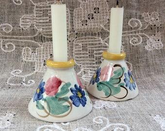 Vintage Scandinavian Leo Enna Ceramic Cande Holder Set / Danmark Ceramic Candle Stick