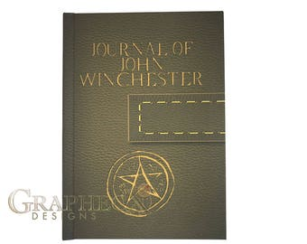 Fan-made Supernatural John Winchester journal inspired personalized hardcover notebook