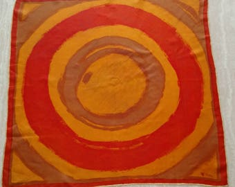 Abstract Orange Hued Vera Neumann scarves /Scarf
