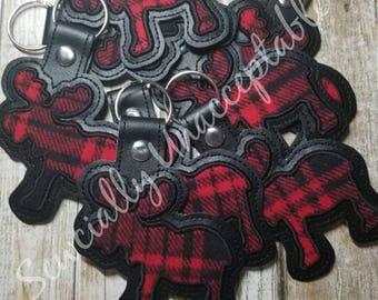 Applique Moose Key Chain