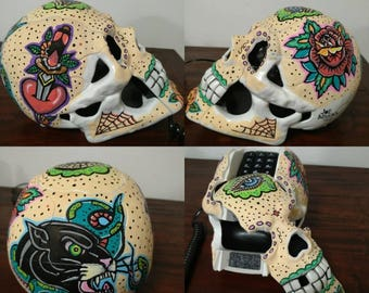 Sugar Skull TattooTelephone