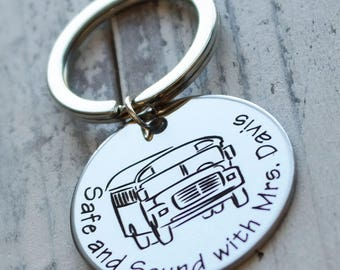 Best Bus Driver Personalized Key Chain - Engraved
