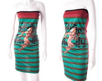 Vintage Jean Paul Gaultier Late 80s Stripe Tube Dress