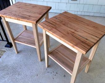 Spalted Curly Maple End Tables