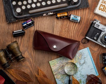 Leather sunglasses case leather glasses case sunglasses pouch sunglasses holder eyeglasses case leather glasses case leather case sunglasses